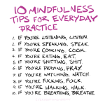 10 Mindfulness Tips for Everyday Practice